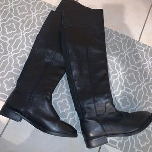 Aldo Over the Knee Black Leather Boots